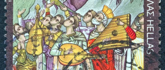 Stamp - Greek sacred music